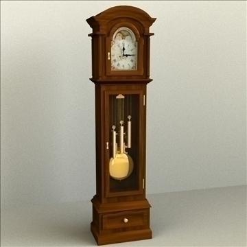 grandfather clock 3d model 3ds max lwo obj 99992