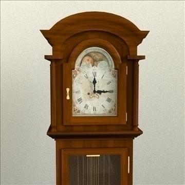 grandfather clock 3d model 3ds max lwo obj 99993