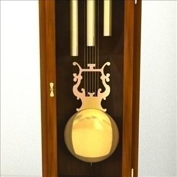 grandfather clock 3d model 3ds max lwo obj 99995