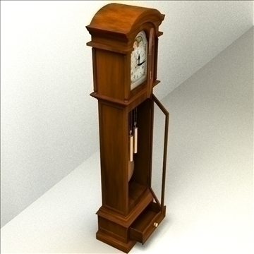 grandfather clock 3d model 3ds max lwo obj 99996
