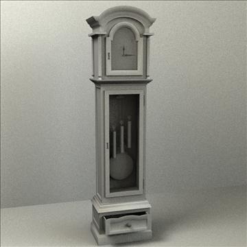 grandfather clock 3d model 3ds max lwo obj 99997