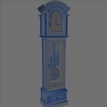 grandfather clock 3d model 3ds max lwo obj 99998