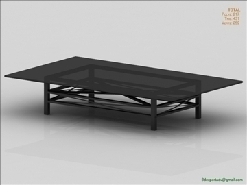 great coffee table 3d model 3ds max fbx obj 106449