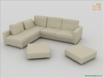 great low poly sofa 3d model 3ds max fbx obj 106453