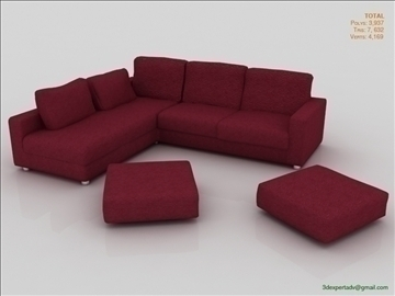 great low poly sofa 3d model 3ds max fbx obj 106454