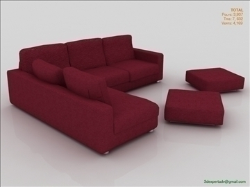 great low poly sofa 3d model 3ds max fbx obj 106455