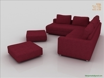 great low poly sofa 3d model 3ds max fbx obj 106456