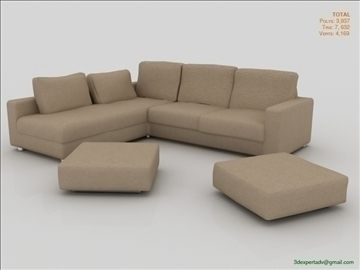 great low poly sofa 3d model 3ds max fbx obj 106457