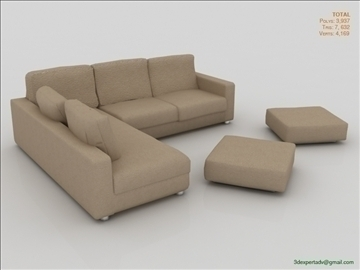great low poly sofa 3d model 3ds max fbx obj 106458
