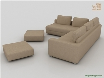 great low poly sofa 3d model 3ds max fbx obj 106459