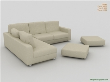 great low poly sofa 3d model 3ds max fbx obj 106460