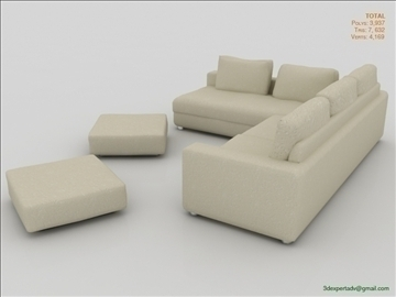 great low poly sofa 3d model 3ds max fbx obj 106461
