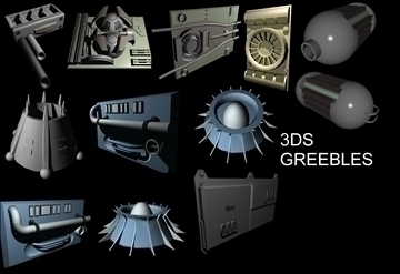 greebles set a 3d model 3ds 96848