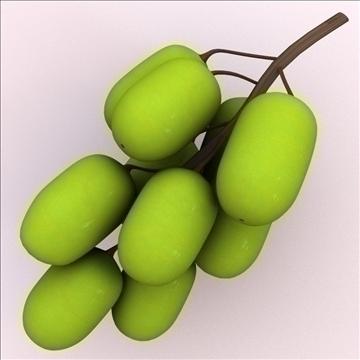 green grape 3d model 3ds max lwo hrc xsi obj 104525