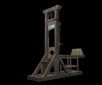 guillotine 3d model max 94343
