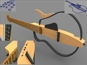 guitar 3d model ma mb obj 109796