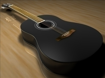 guitar v1 3d model 3ds dxf c4d texture obj 110064