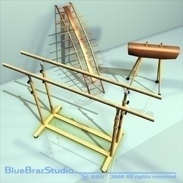 gymnastic set 3d model 3ds dxf c4d obj 89899