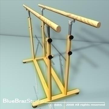 gymnastic set 3d model 3ds dxf c4d obj 89901