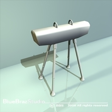 gymnastics pommel horse 3d model 3ds dxf c4d obj 89891