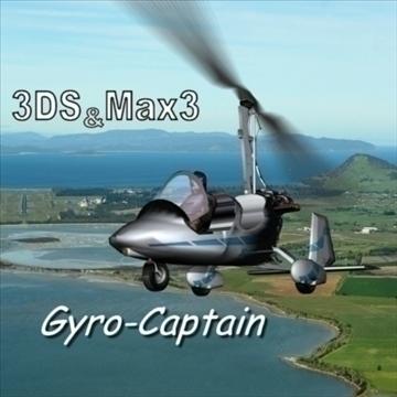 gyrocoptor 3d model 3ds 80157