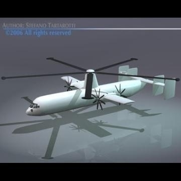gyrolifter vtol trasport plane 3d model 3ds dxf obj 78228