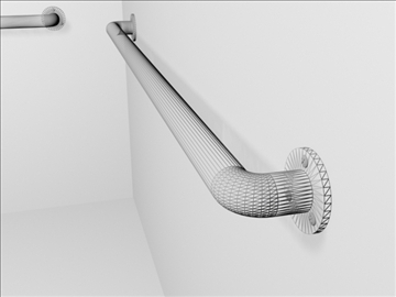 handicapped bathroom railings 3d model 3ds max wrl wrz obj 109082