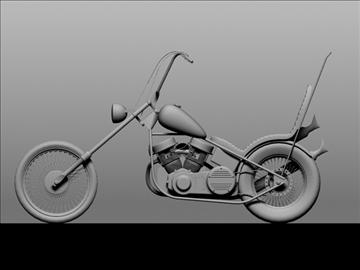 harley davidson easy rider 1969 3d model 3ds max c4d obj 101298