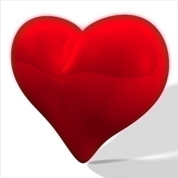heart 3d model 3ds dxf fbx c4d other obj 82628
