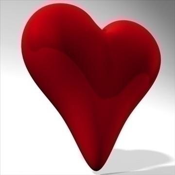 heart 3d model 3ds dxf fbx c4d other obj 82629
