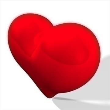 heart 3d model 3ds dxf fbx c4d other obj 82630
