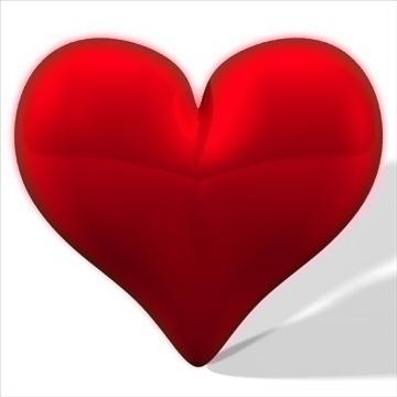 heart 3d model 3ds dxf fbx c4d other obj 82631