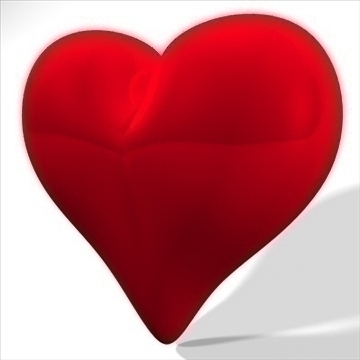 heart 3d model 3ds dxf fbx c4d other obj 82634