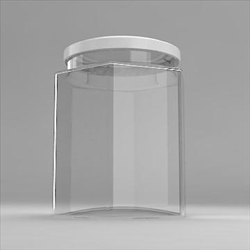 hexagonal jar 3d model 3ds 3dm obj 101258