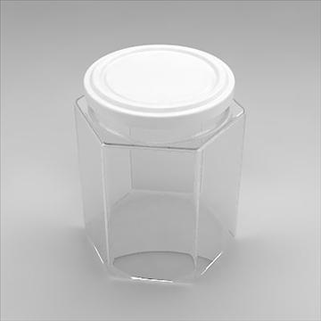 hexagonal jar 3d model 3ds 3dm obj 101259