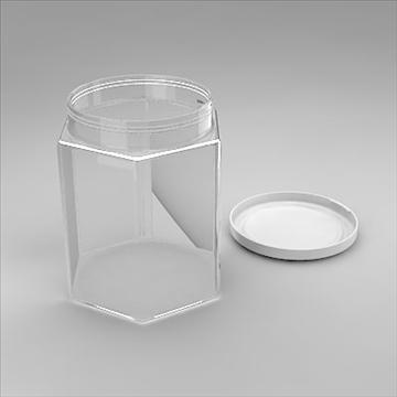 hexagonal jar 3d model 3ds 3dm obj 101260