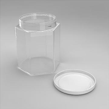 hexagonal jar 3d model 3ds 3dm obj 101261