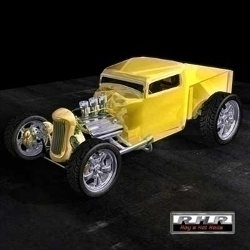 high tech hot rod pick-up 3d model lwo obj 81887
