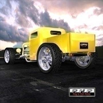 high tech hot rod pick-up 3d model lwo obj 81888