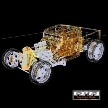 high tech hot rod pick-up 3d model lwo obj 81889