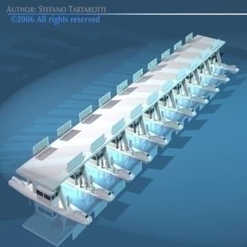 highway pay toll building 3d model 3ds dxf obj other 77709