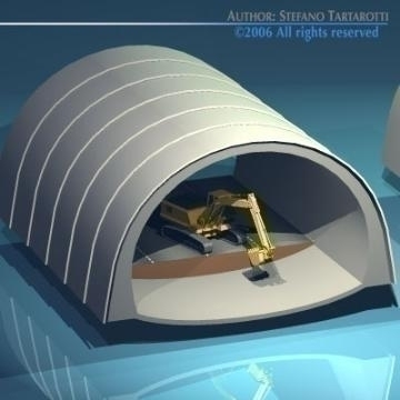 highway tunnels cutaway 3d model 3ds dxf other obj 78354
