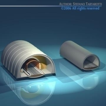 highway tunnels cutaway 3d model 3ds dxf other obj 78355