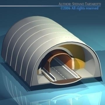 highway tunnels cutaway 3d model 3ds dxf other obj 78356