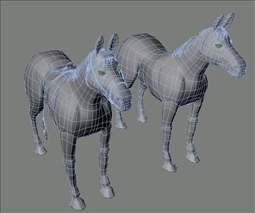 horses 3d model max 109331