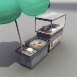 HotDog Stand 3D ( 66.08KB jpg by 3DArtisan )