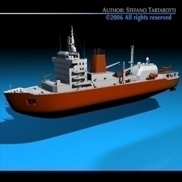 icebreaker 3d model 3ds dxf c4d obj 84900