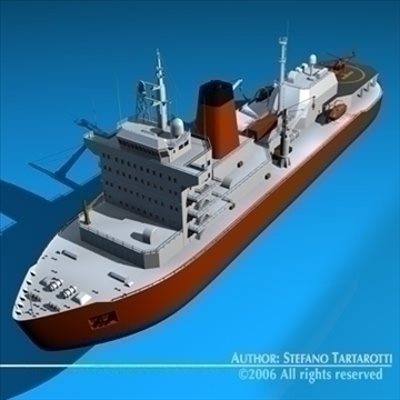 icebreaker 3d model 3ds dxf c4d obj 84904