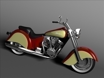 indian chief vintage 2009 3d model 3ds max c4d obj 100703