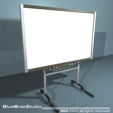 instructional whiteboard 3d model 3ds dxf c4d obj 93194
